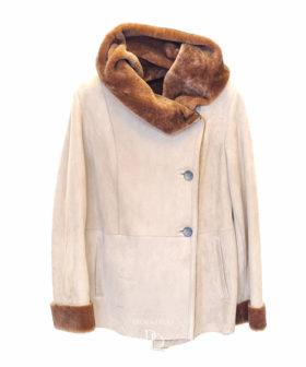 chaqueta de piel de cordero para mujer