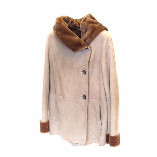 chaqueta cordero piel vuelta mujer F47 4