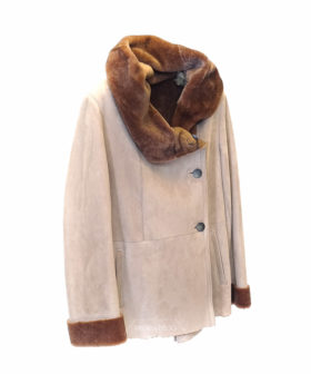 chaqueta cordero piel vuelta mujer F47 5