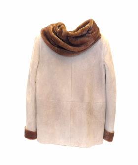 chaqueta cordero piel vuelta mujer F47 6