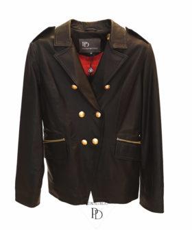 chaqueta cuero mujer negra