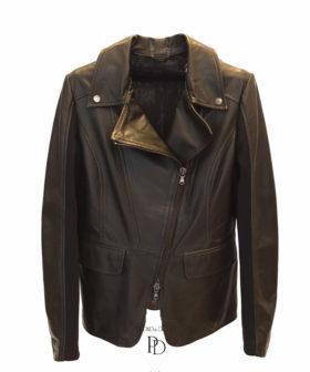 chaqueta piel mujer marrón