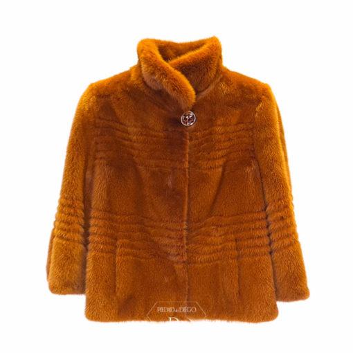 chaqueta de piel de vison moderna