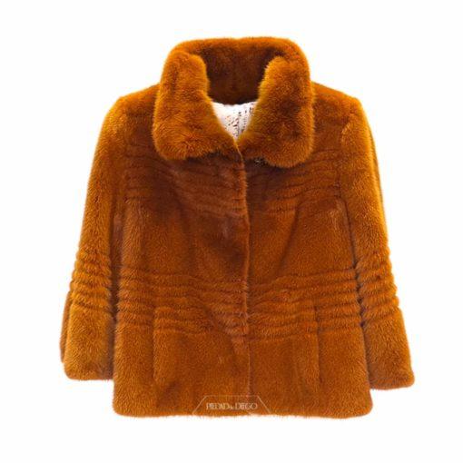 chaqueta de piel de vison juvenil
