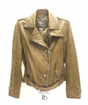 chaqueta cuero mujer piel biker